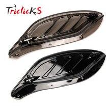 Triclicks МОТОЦИКЛ ABS пластиковые боковые крылья обтекатель воздуха дефлекторы автомобиля-Крышка для Harley Street Glide Electra GlideTouring 96-13