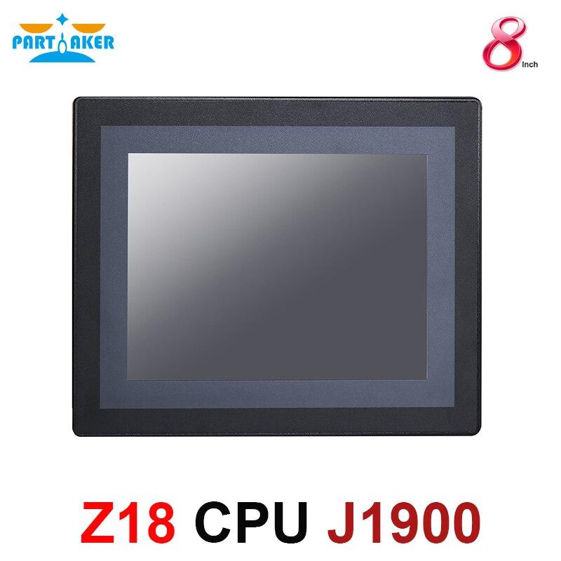 8 אינץ LED IP65 תעשייתי לוח מגע מחשב כל במחשב אחד עם התנגדות מסך מגע Intel Celeron J1900 הכפול Lan