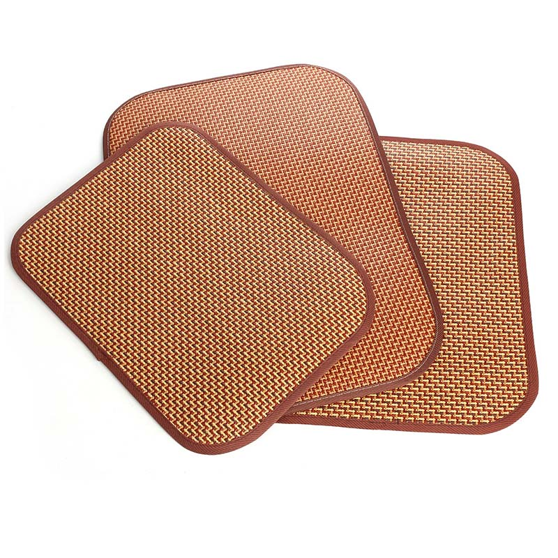 Soft Cooling Pet Dog Mat Pad for Kennels Crates and Beds Puppy Bamboo Ice Mat for Keeping Dogs Cool in Summer Breathable Brown