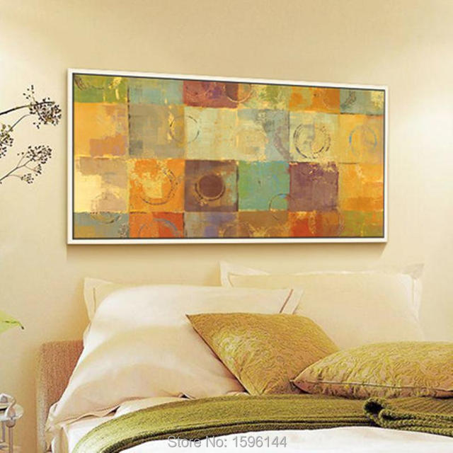 Hand Painted Abstract oil painting canvas Modern Art painting Orange ...