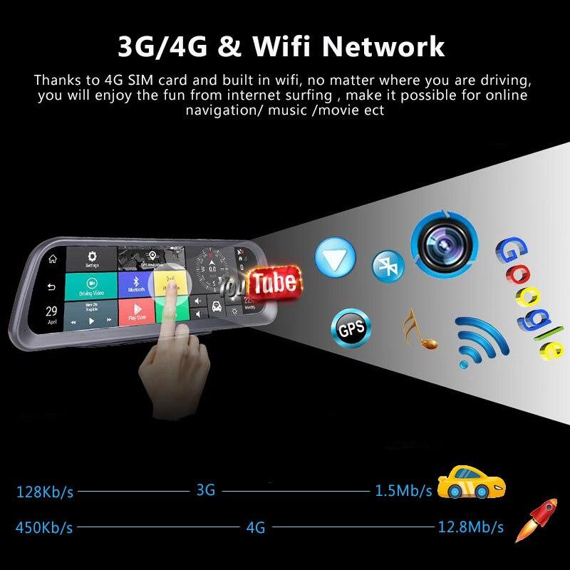 10 ''Dashboard-Auto DVR 4G Android ADAS Dash Cam Volle Bildschirm HD 1080P Auto Kamera GPS Wifi remote Monitor Kanzler DVRs 882