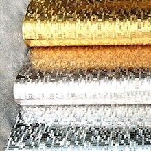 Покрытие свет отражают зеркало роскошные золото серебро фольга блеск обои моющиеся для кухни глянцевая потолочные обои ванная комната