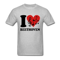 Tee Shirts Camisetas Hip Hop Hombre I Love Beethoven Shorts Sleeve Tee Shirts Pre Cotton Hombre