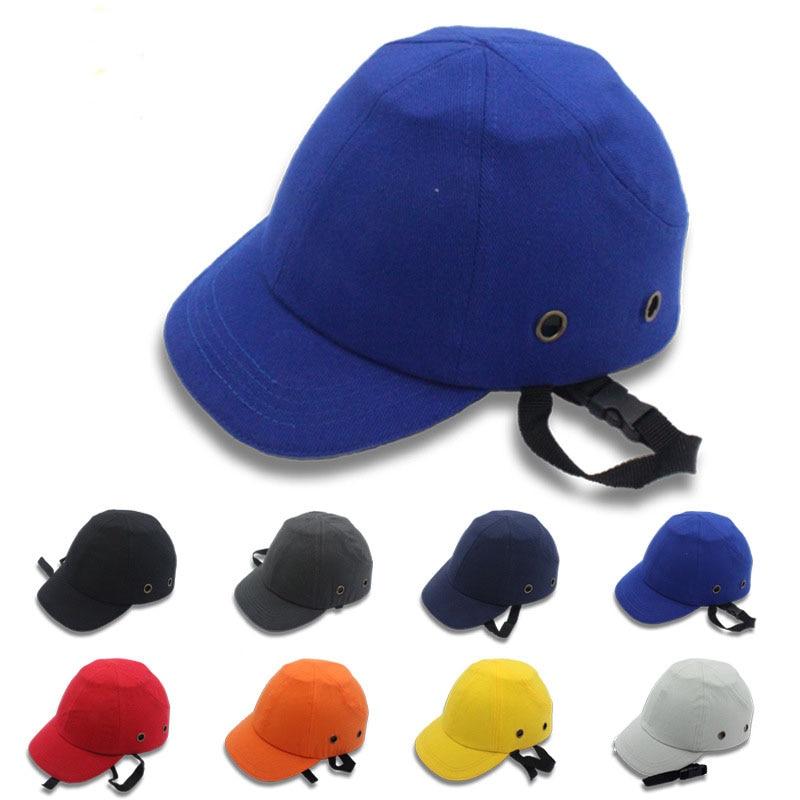 2018 Bump Cap Arbeit Schutzhelm Abs Lnnenstadt Shell Baseball-mütze Stil Schutzmaßnahmen Hartplastik Hut Für Arbeitskleidung Kopfschutz Top 6 Löcher Arbeitsplatz Sicherheit Liefert Schutzhelm