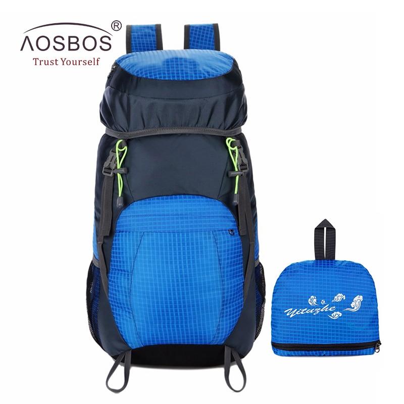 Aosbos 야외 폴딩 등산 배낭 남자 여성 경량 배낭 방수 스포츠 배낭 캠핑 하이킹 가방 6 색상