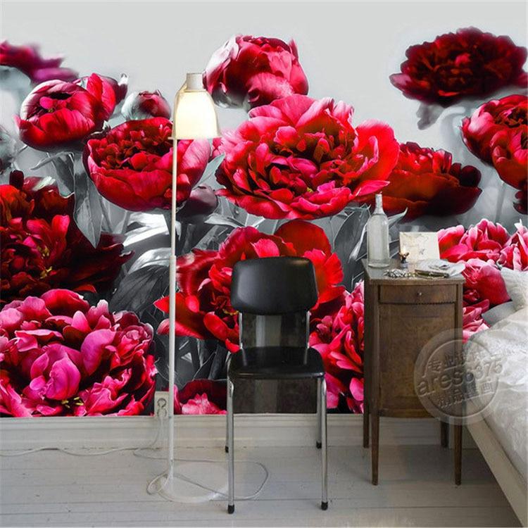 Popular rose flowers wallpapers buy cheap rose flowers for 3d rose wallpaper for bedroom