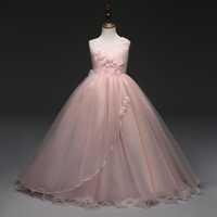 2018 New Prom Party Princess Flower Girl Dress Wedding Long Formal Children Birthday Dresses For Girls