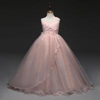 2018 New Prom Party Princess Flower Girl Dress Wedding Long Formal Children Birthday Dresses For Girls
