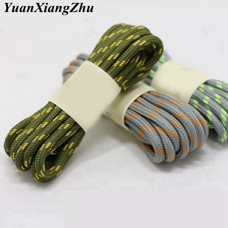 1Pair outdoor sport round shoelaces for boots hiking slip rope shoe laces sneakers shoelace strings100 120 140 160CM 19 Colors in Shoelaces from Shoes