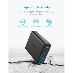 Image 5 - Anker USB C Premium 60 واط 5 Port شاحن سطح المكتب مع منفذ واحد 30 واط لابل ماك بوك نيكزس 5X/6P 4 منافذ PowerIQ آيفون باد