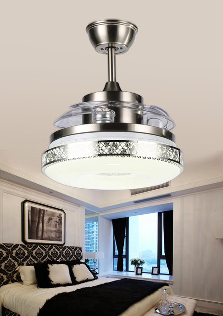 Modern Led Ceiling Light Fan With Remote Control Lights Lamp Dining Room Living