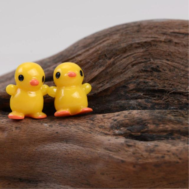 5 Pcs /10 pcs Mini Small Yellow Duck Resin Figurines DIY Craft ...