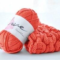 500グラム/ロット(5ピース)アクリル糸用編み冬ハンドニット赤ちゃんスカーフセーターかぎ針編み