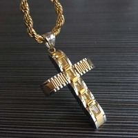 Hot Christmas Cross Man Woman Jesus Fashion Pendant Necklace 316L Stainless Steel High Quality For Love
