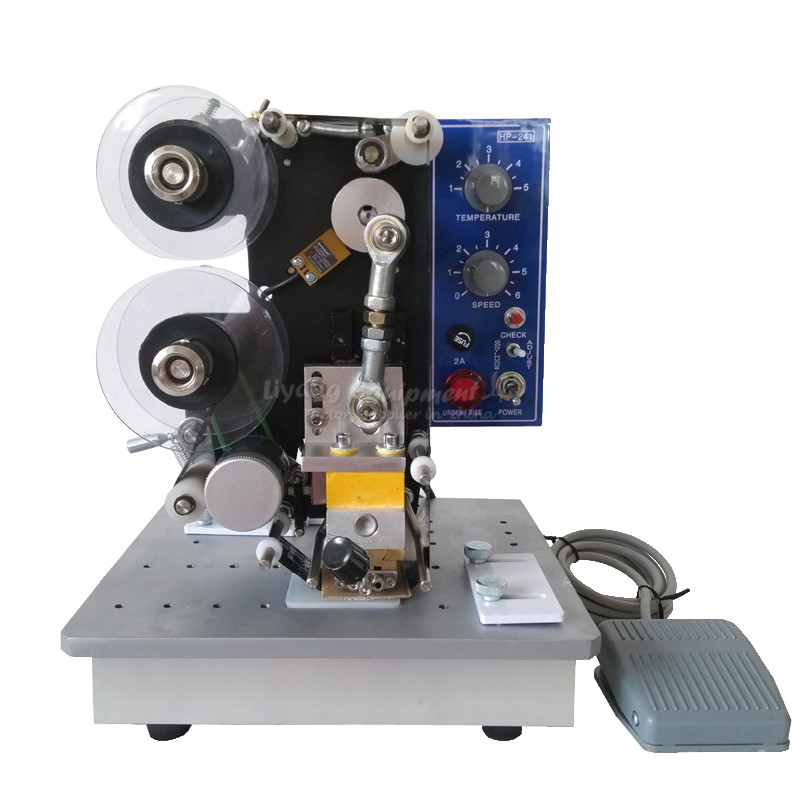 HP-241B automatic electric ribbon coding machine semi automatic electric hot stamp ribbon coding printer machine coder hp 241b