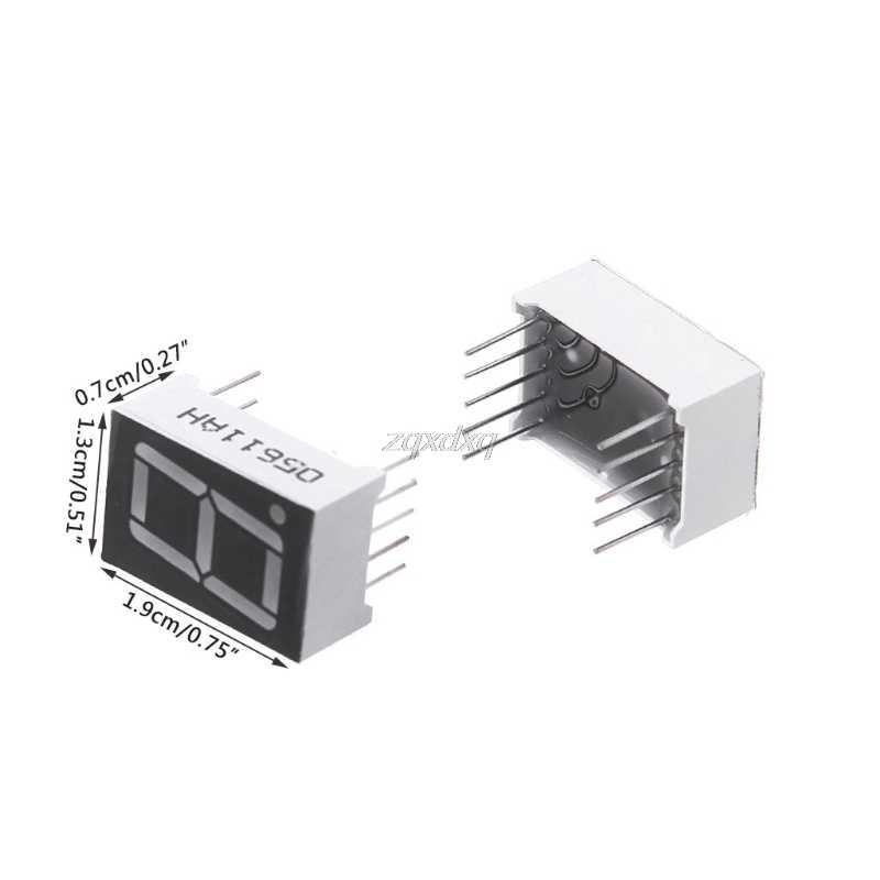 10 Pcs 0.56 Inch 7 Segment 1 Digitale Led Display Super Rode Gemeenschappelijke Kathode Rental & Dropship