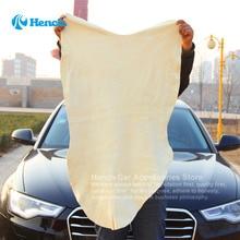 Envío gratis secado limpieza toalla gamuza gamuza cuero genuino Natural Shammy esponja de la zalea del paño absorbente toalla de lavado de coches