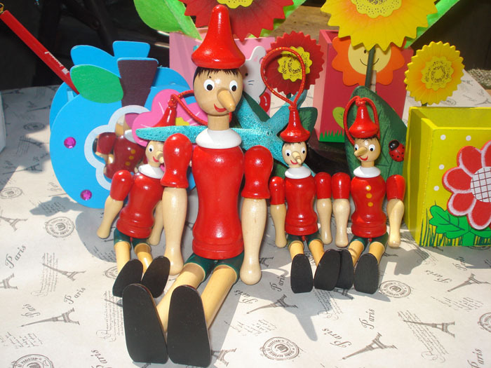 new Pinocchio doll Wooden Gifts one piece 25cm red anime ...