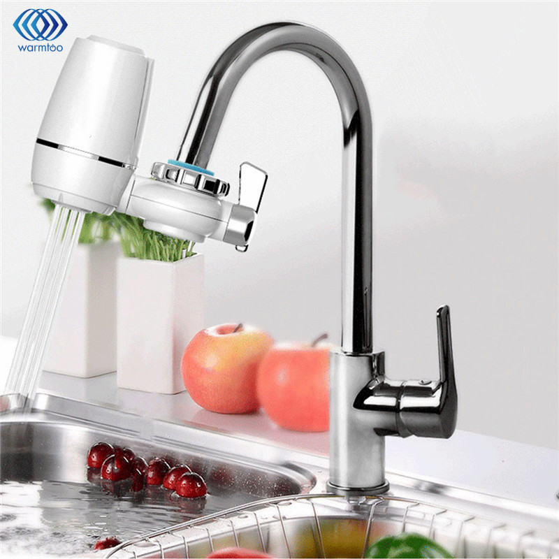 Household Water Purifier Faucet Activated Carbon Ceramic Water Filter Tap Kitchen Water Clean Detachable Washable household tap water filter faucet water purifier rotatable plastic shell magnetic activated carbon filter screen kitchen