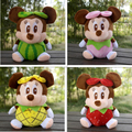 20cm Lovely Plush Cartoon Fruit Mickey Mouse Toy for Baby Creative Mickey Mouse Doll Free Shipping