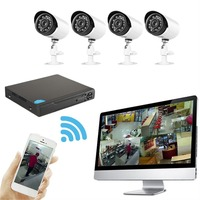 4 Channels Mobile DVR Network Hybrid Digital Smart Video Recorder CCTV Surveillance DIY Kit With 2