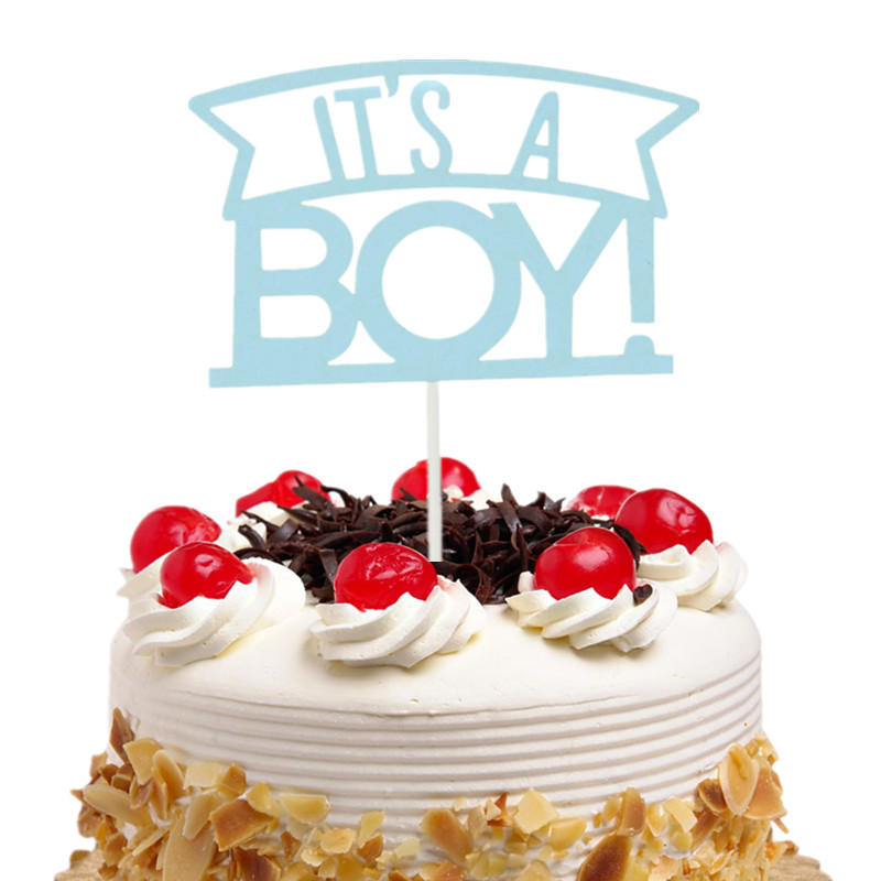 Its A Boy Cake Toppers Flags Kids Happy Birthday Pink ...