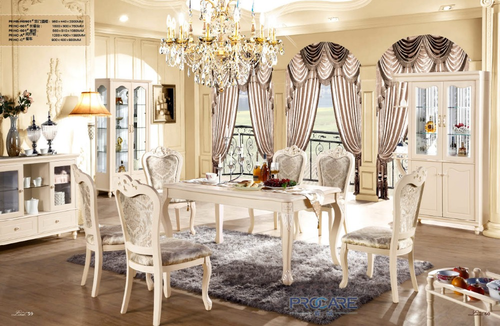 2016 Limited Oak Furniture High Quality Fashion Home Solid Wood Dining Room  Table Furniture Set With Low Price