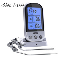 Kitchen Wireless Digital Meat Thermometer Remote BBQ Cooking Double Probe Wireless LCD Remote Thermometer Meat With