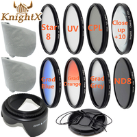 KnightX Close up Macro REFLEX Lentille Filtre Kit UV CPL FLD nd Kit pour canon nikon d3300 d3200 d5200 d5300 d5500 sony 52mm 58mm 67mm