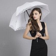 Umbrella-Accessories Shower-Umbrella Parasol Lace Bride Wedding NZUK for Opening Manual