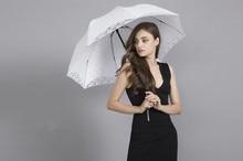 NZUK 2018 Lace Manual Opening Wedding Umbrella Bride Parasol Umbrella Accessories For Wedding Bridal Shower Umbrella