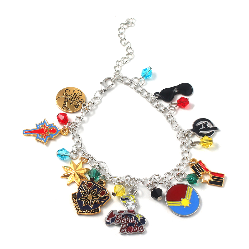 Avengers Endgame Superhero Charm Bracelet Bangles For Women Girls Pendant Fashion Jewelry Gift in Charm Bracelets from Jewelry Accessories