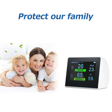 Air Quality Monitor PM2.5 TVOC Formaldehyde CO2 Detector Meter Semiconductor Sensing Technology Monitoring System