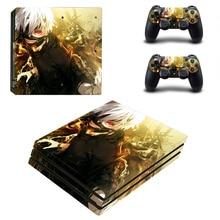 أنيمي طوكيو Ghouls PS4 برو الجلد ملصق مائي ل بلاي ستيشن 4 وحدة التحكم و 2 تحكم PS4 برو الجلد ملصق الفينيل الملحقات