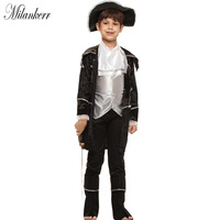 Boys Pirate Costumes Kids Halloween Cosplay Party Fancy Outfits Carnival Fantasia Children Costumes