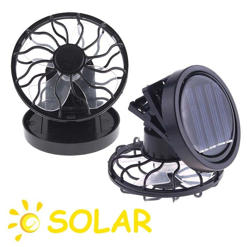 1 Pc HOT Energy Saving Clip-on Solar Cell Fan Sun Power energy Panel Cooling Black Camping Cooling Fishing Fan Portable