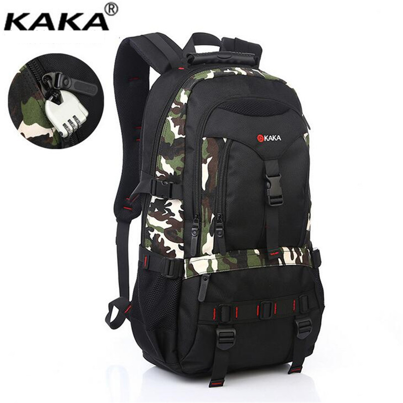 Kaka Large-capacity Men Backpacks Fashion Travel Mountaineering Bags Waterproof Guard Against Theft Laptop Backpack X135
