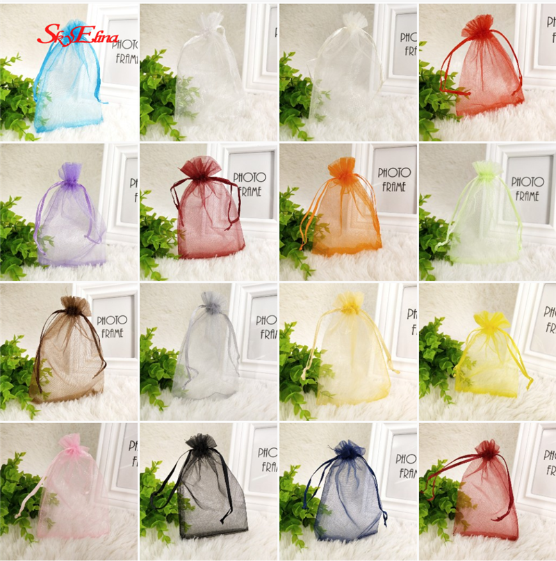 50pcs 7x9 9x12 10x15 13x18CM Organza Gift Bag Jewelry Packaging Bags Wedding Party Decoration Drawable Bags Sachet Pouches 5Z50pcs 7x9 9x12 10x15 13x18CM Organza Gift Bag Jewelry Packaging Bags Wedding Party Decoration Drawable Bags Sachet Pouches 5Z