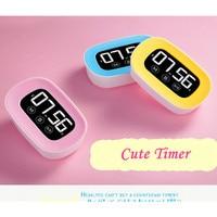 Dijital zamanlayıcı büyük ekran dokunmatik zamanlayıcı geri sayım elektronik zamanlayıcı ile şeker renk