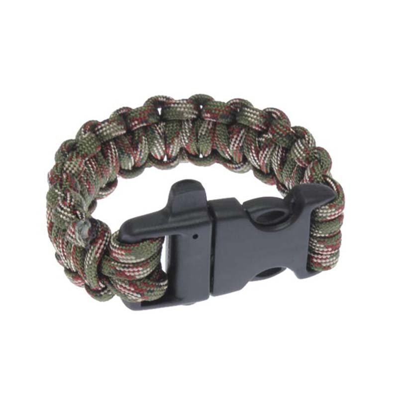 2019 Wholesale Adults Durable Military Survival Bracelet Buckle With Whistle Outdoor Sports Camping Hiking Lifeline Kits Tool