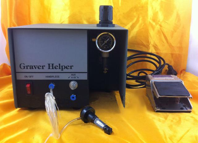 220 V Graver Helper, companheiro de Jóias Pneumática Máquina de Gravura Single Ended Graver Ferramenta Jóias Gravador, jóia Que Faz o Equipamento