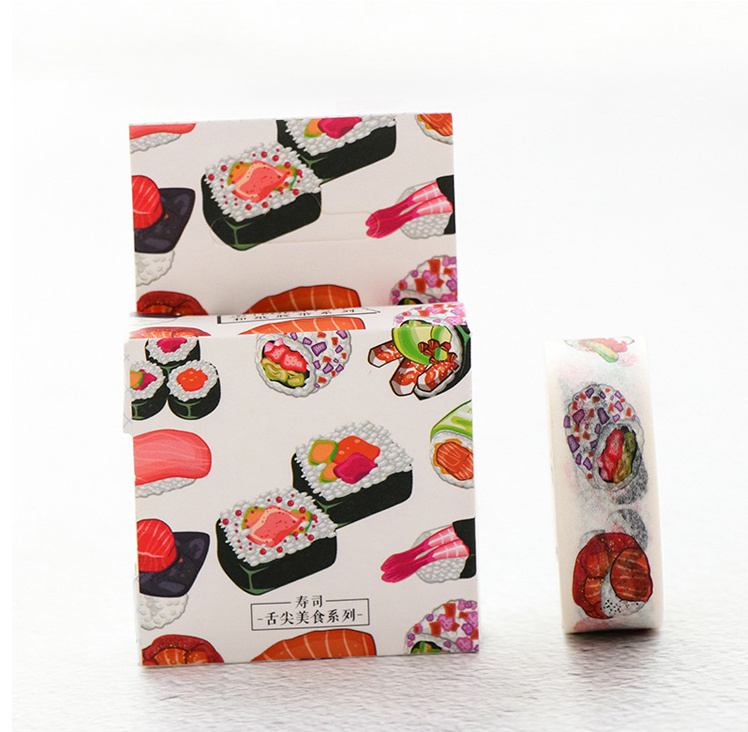 1.5cm Food Dessert Washi Tape Masking Tape DIY Decoration Scrapbooking Sticker Label Tape School Office Supplies