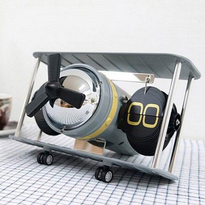 Desk Table Down Page Internal Gear Operated Clock New 2018 Retro Airplane Propellor Airscrew Retro Auto Balance Flip Clock
