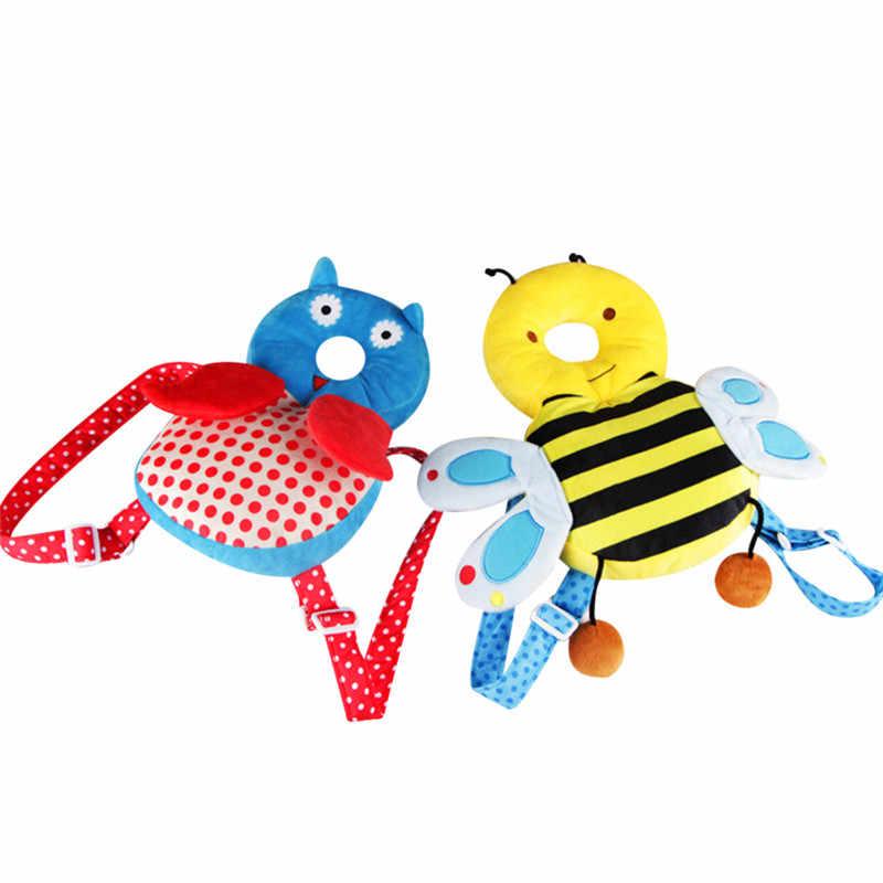Protector de la cabeza del bebé almohada para niños cojín Protector para caminar asiento aprendizaje Linda almohada de dibujos animados para bebé