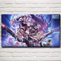 Over Watch Heroes Storm Star Craft Nova Games Art Silk Poster Home Decor Printing 11x20 16x29