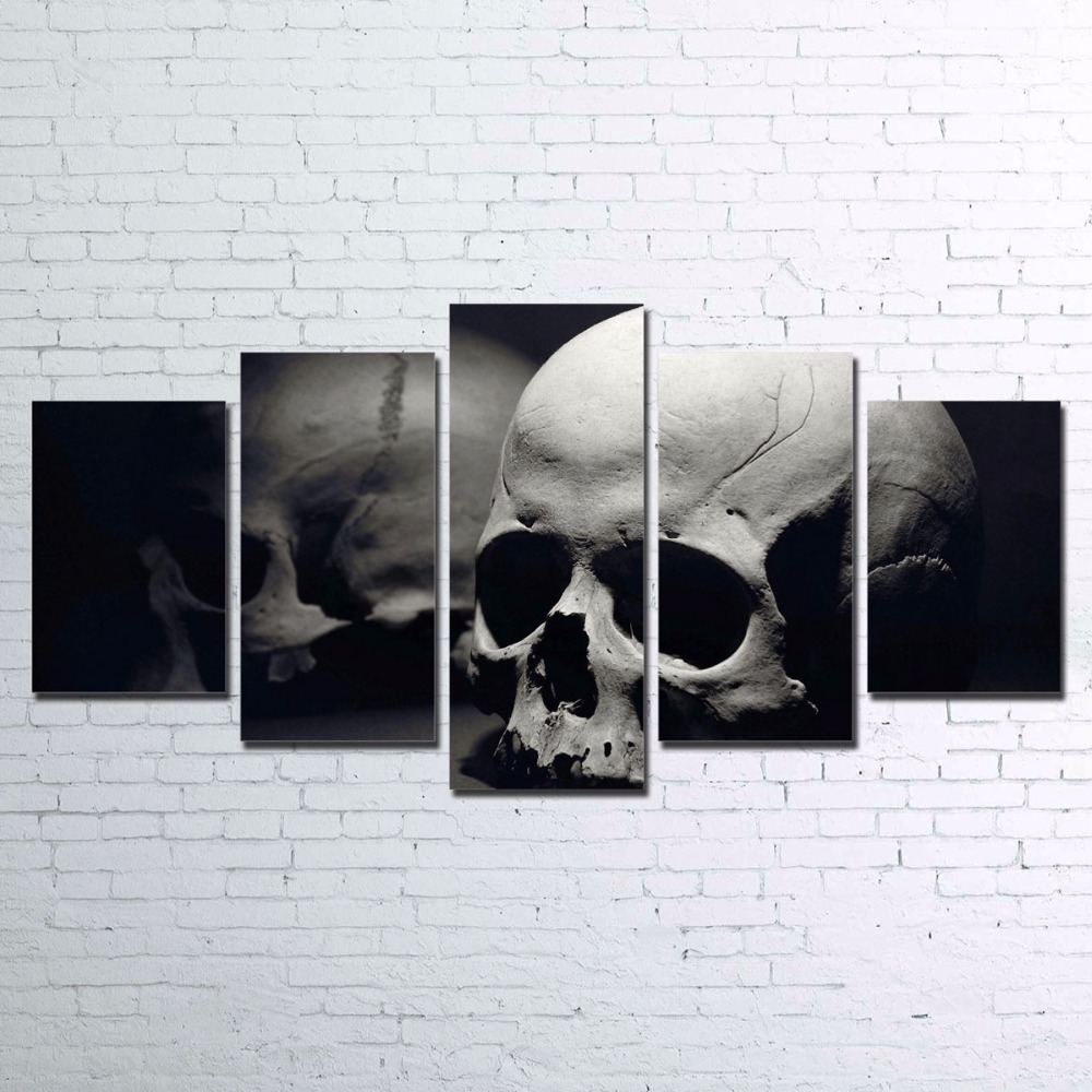 Modern Canvas Painting Frame Living Room Decor HD Printed 5 Pieces Skull Pictures Wall Art Abstract Movie Game Poster PENGDA