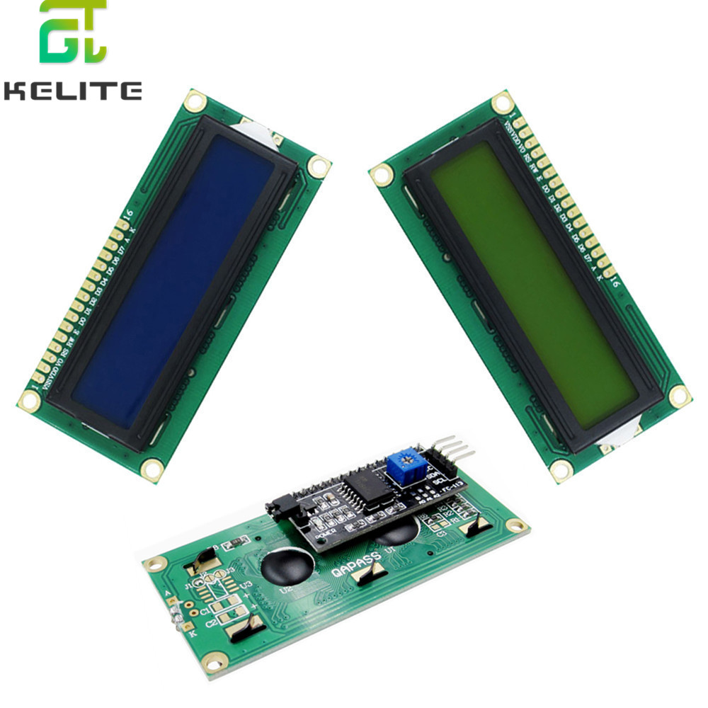 10PCS LCD1602+I2C 1602 Serial Blue/Green Backlight LCD Display 2560 UNO AVR IIC/I2C For