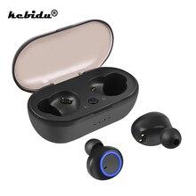 Kebidu TWS Bluetooth 5.0 auricolare Mini cuffie Wireless cuffie basse con microfono auricolari sportivi per Xiaomi iPhone
