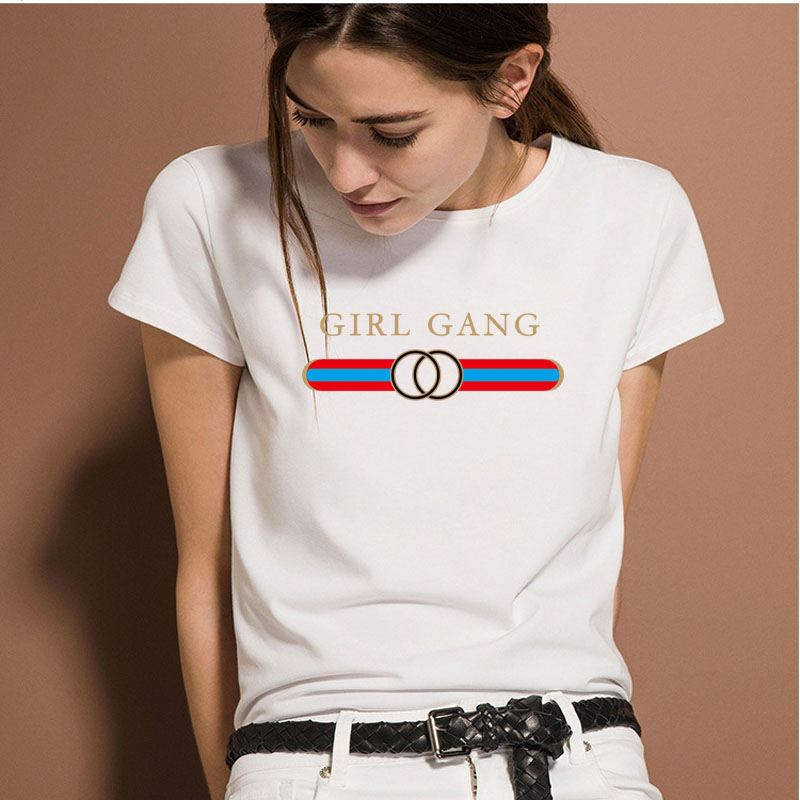 Graffiti verano Harajuku T-Shirt mujeres impresión muchacha o-cuello manga corta Camiseta mujeres Tops mujer Casual algodón camiseta