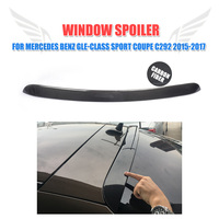 Carbon Fiber Rear Roof Wing Trunk Trim Sticker Spoiler for Mercedes Benz C292 GLE Class GLE43 GLE63 AMG Sport only 2015 2017